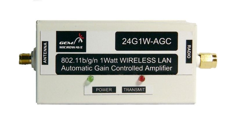 2.4GHz 802.11 b/g/n Automatic Gain Controlled Amplifier (3.5 Watts saturated)